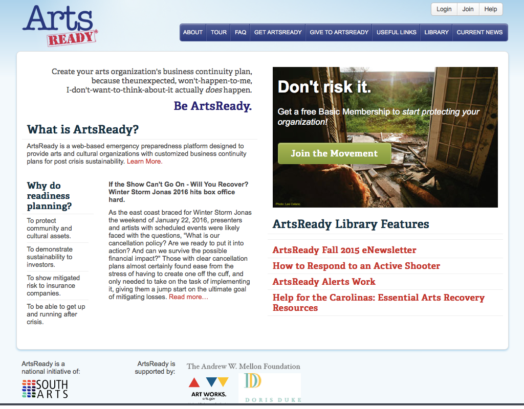 ArtsReady Homepage
